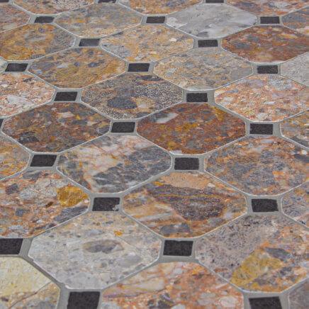 Set Pranzo per Esterno Tavolo Mosaico 160x90 + 4 Sedie e 2 ...