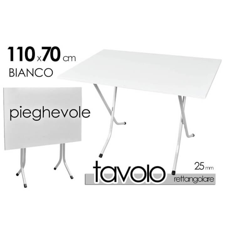 Tavolo Pieghevole Cm 70x110 Bianco 679865 Scaramuzzamodo It